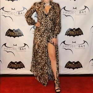 Rachel Zoe Elara Leopard Print Button Down Dress